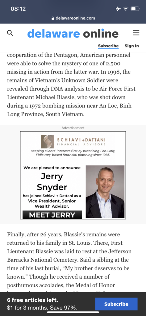 Display ad review: Jerry Snyder's Promotion