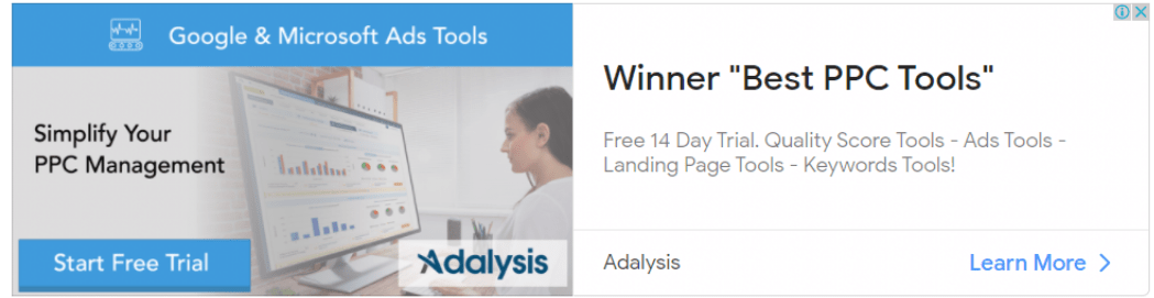 Let's review Adalysis's own Ad